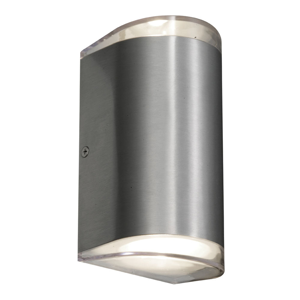 Sherlock Round Aluminium LED Up/Down Pillar Wall Exterior Light