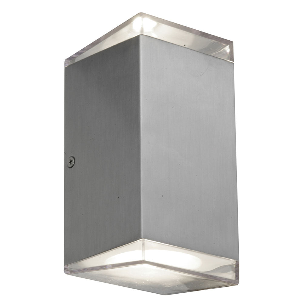Sherlock Square Aluminium LED Up/Down Pillar Wall Exterior Light