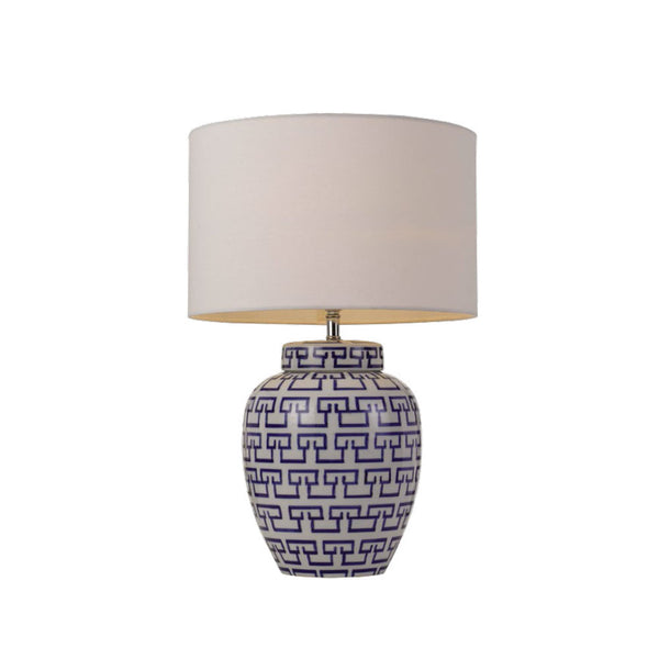 Ting Blue and White Scroll Vase Table Lamp