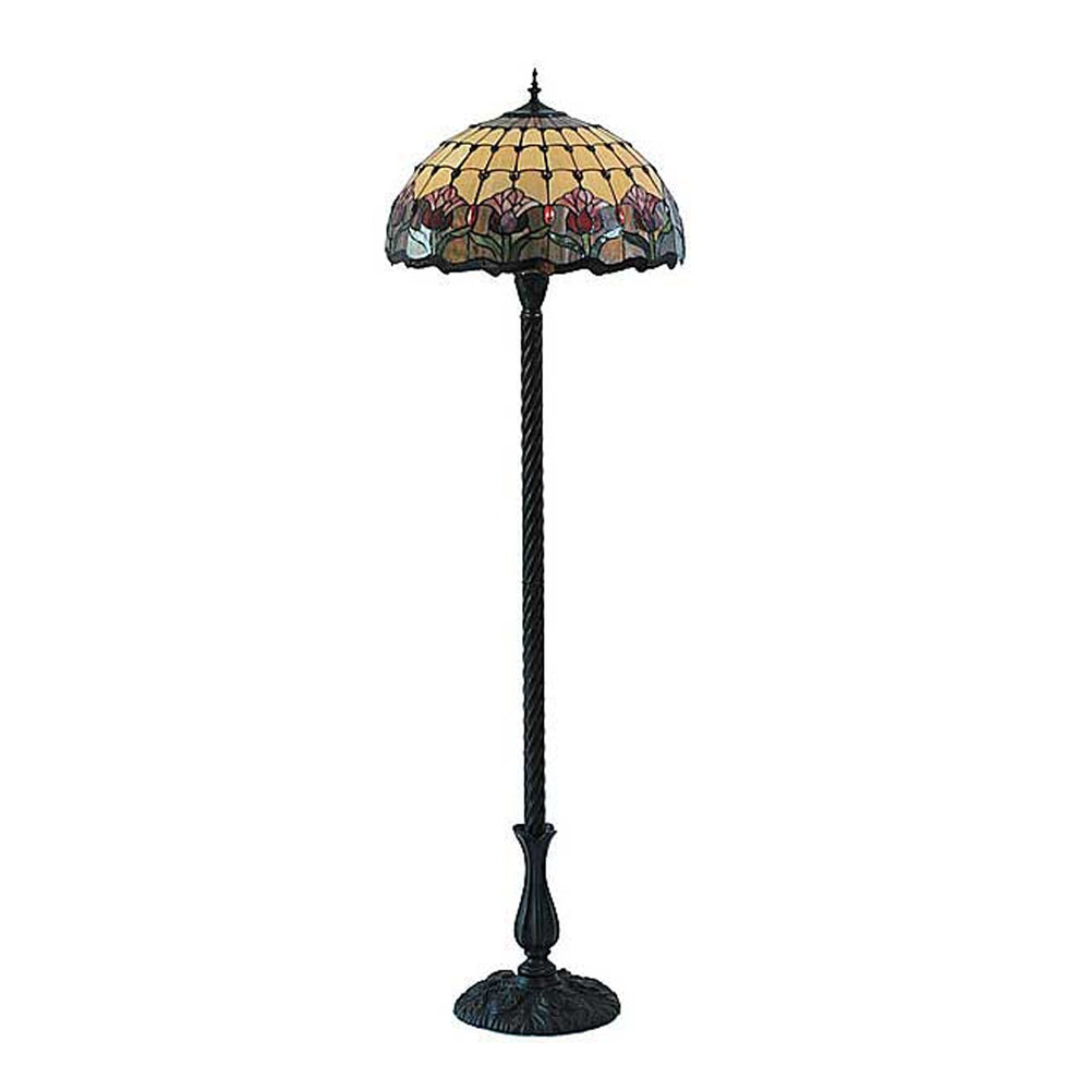 Tiffany Red Tulip Floor Lamp TLA-F20625/KG