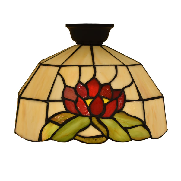 Tiffany Red and Green Water Lily Batten Fix BF102798
