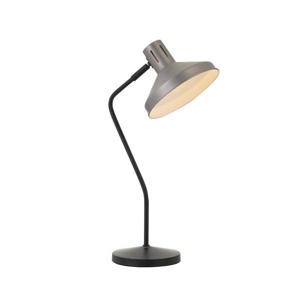 Trevi Nickel Sharp Neck Table Lamp