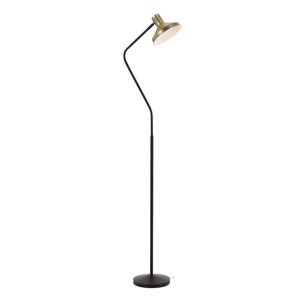 Trevi Antique Brass Sharp Neck Floor Lamp