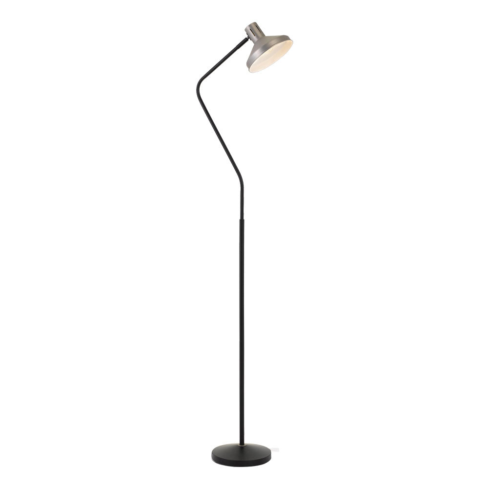 Trevi Nickel Sharp Neck Floor Lamp