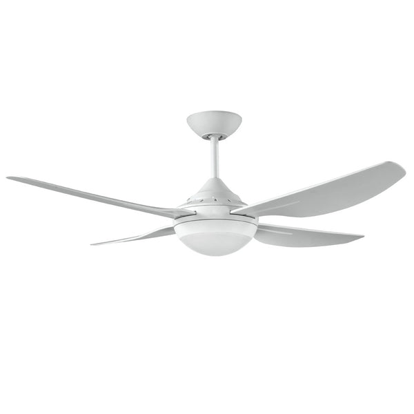 DEKA Harmony II 1200mm White ABS Plastic Contoured 4 Blade Ceiling Fan with Light