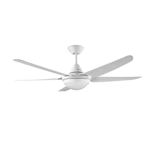 DEKA Mariah 1320mm White ABS Plastic 5 Blade Fan with Light