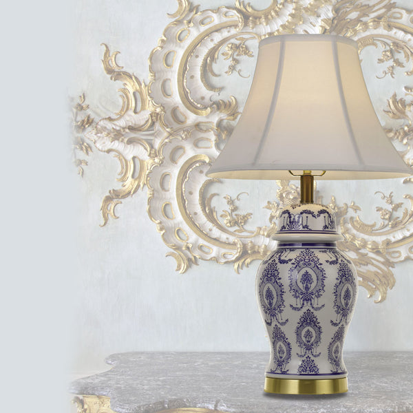 Yang Blue and White Provincial Emblem Vase Table Lamp