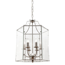 Arcadia 6 Light Lantern Pendant Satin Chrome