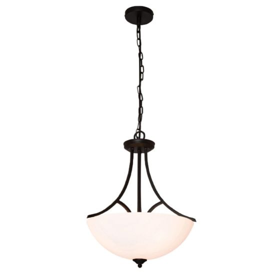 Atlanta 3 Light Traditional Black Pendant or Close to Ceiling