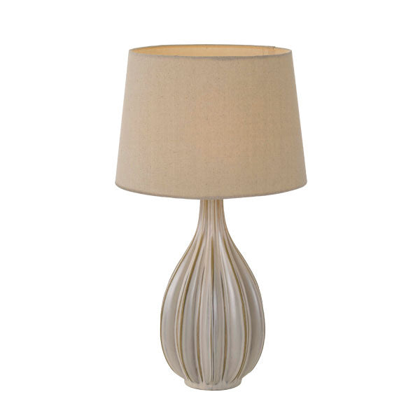 Avero Champagne Rippled Star Vase Table Lamp