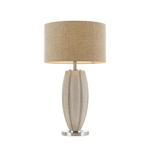 Axis Cream and Beige Marble Large Table Lamp