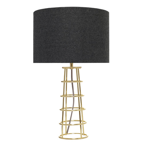 Beatrice Modern Table Lamp Black Shade With Brass Base
