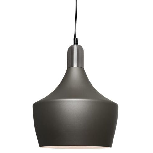 Bevo 1 Light Satin Chrome and Charcoal Pendant