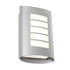 Bicheno Silver LED Multi-Slotted Cover Exterior Wall