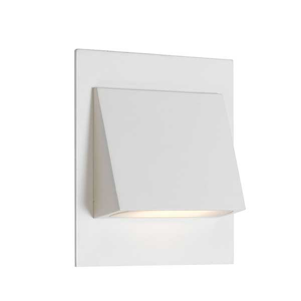 Brea White-850 Wedge Offset Recessed LED Stair Fixture