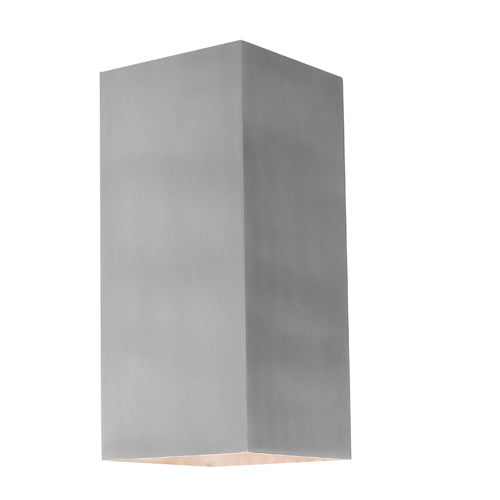 Busselton Rectangle Exterior Up and Down Aluminium Wall Light