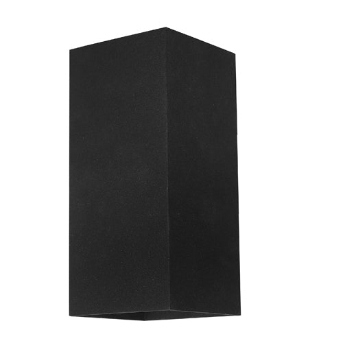 Busselton Rectangle Exterior Up and Down Black Wall Light