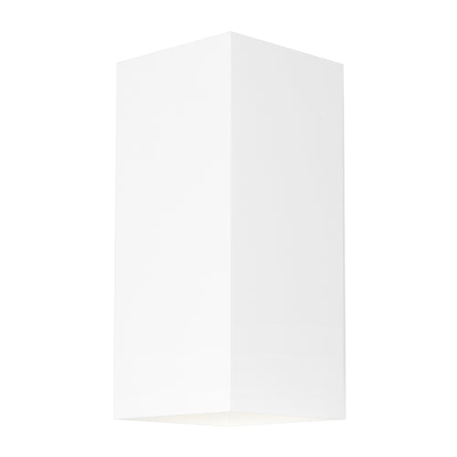 Busselton Up and Down Rectangle Exterior White Wall Light