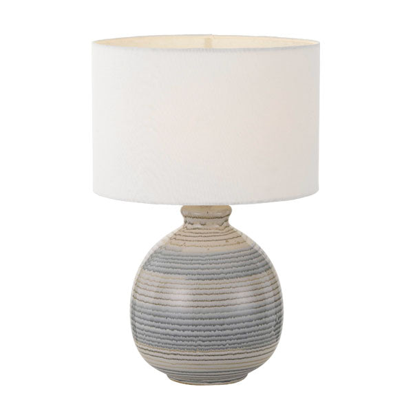 Carey Blue Round Ceramic Natural Mold Table Lamp