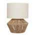 Cassie Table Lamp White With Natural Thread