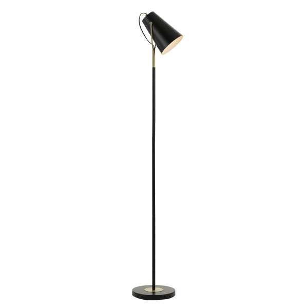 Cheviot Black Standing Studio Floor Lamp