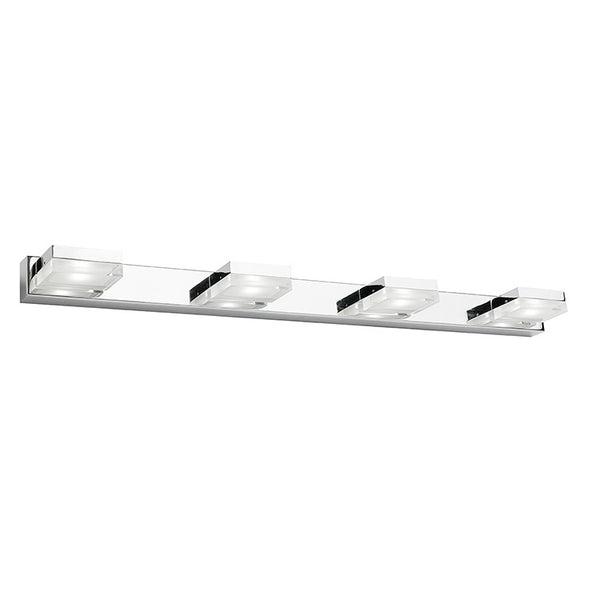 Cube 4 Light Bar Square Overhang LED Vanity Wall Light
