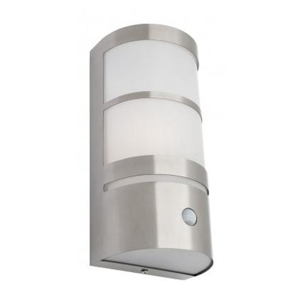 Derinda Sensored Half-Cylinder 316 Marine Grade Stainless Steel Exterior Wall Light