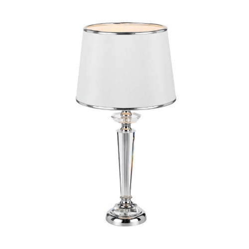 Diana Chrome/White Table Lamp