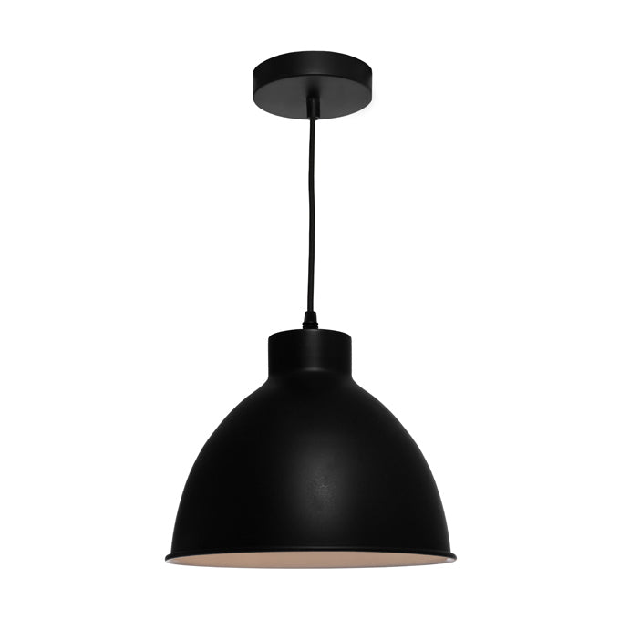 Dome Black Industrial Pendant