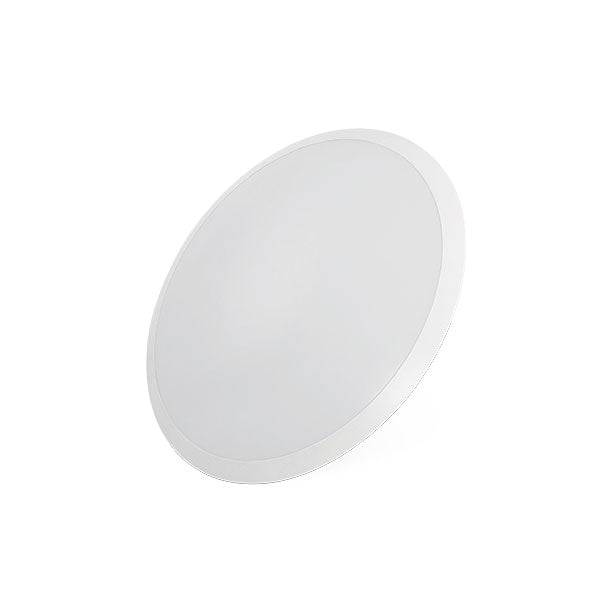 Domino 24w White Trim Round LED Oyster