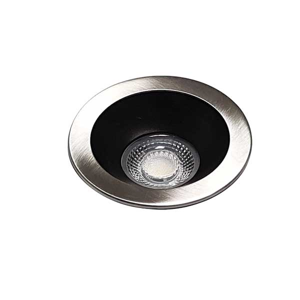 Elite Nickel/Black 5000k Recessed Dip Downlight Kit