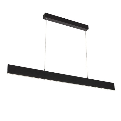 Essex Black 120cm LED Linear Panel Pendant