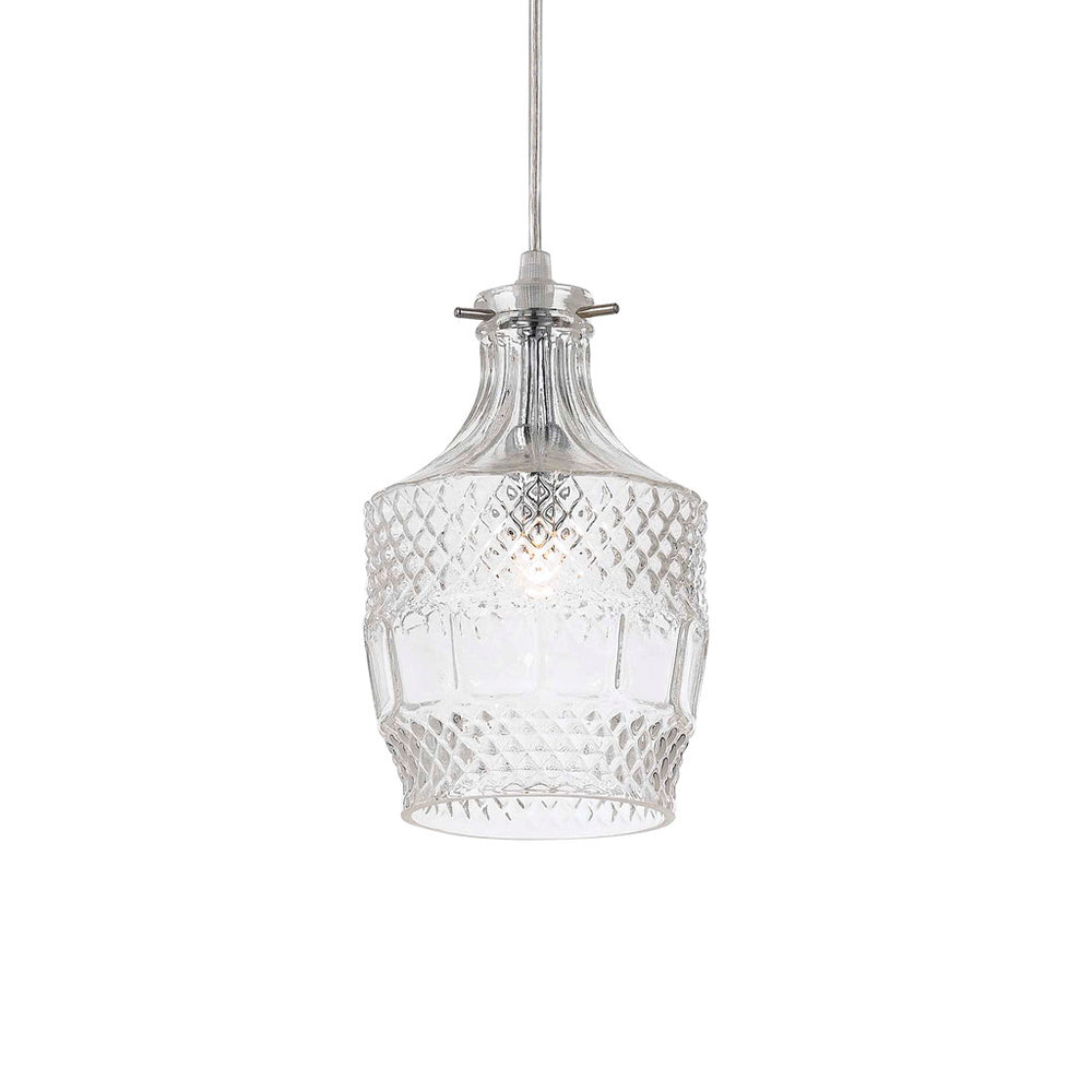 Etra French Provincial Glass Pendant