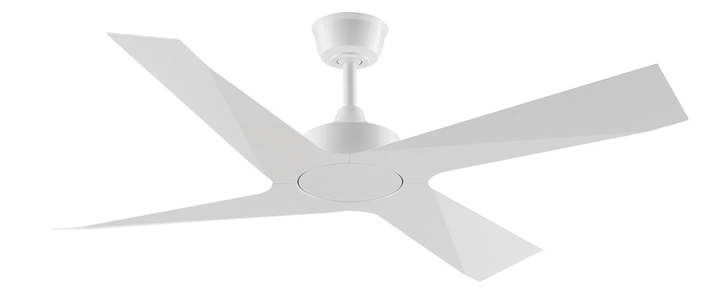 Modn-4 White Squared Metal Blade Ceiling Fan