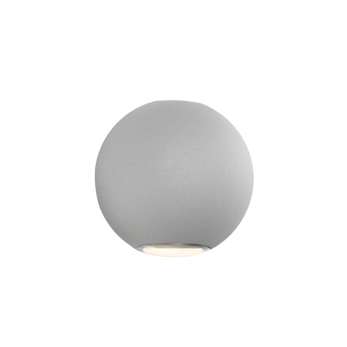Genoa Architectural Up and Down Round Silver Wall Light