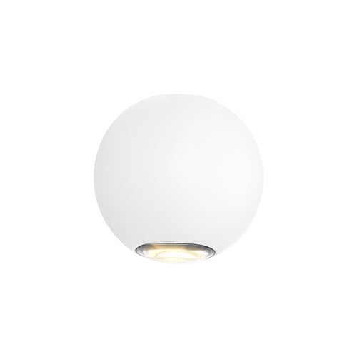 Genoa Architectural Up and Down Round White Wall Light