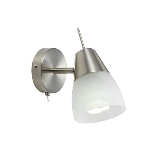 Gibson Nickel Adjustable Wall Light with Switch