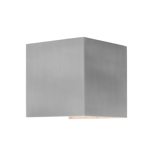 Glenelg Square Exterior Up and Down Aluminium Wall Light