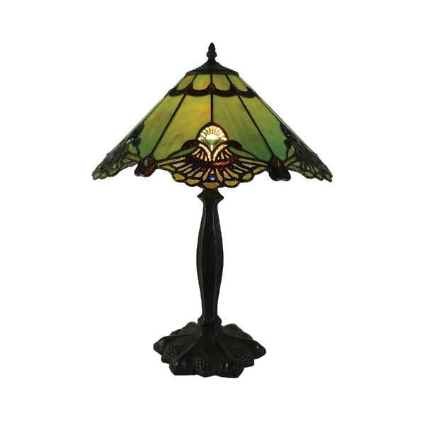 "Tiffany Green Majorelle 16"" Table Lamp"