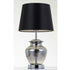 June Chrome and Smoke Glass Bottle Vase Table Lamp