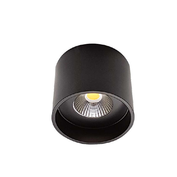 Keon 10w Black 3000k Surface-mounted Downlight
