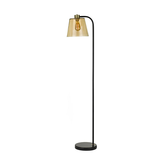 Kindra Black and Amber Floor Lamp