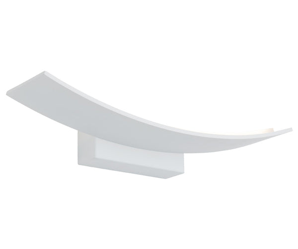Larz 12wt White Architectural Rectangle Indoor Wall Light