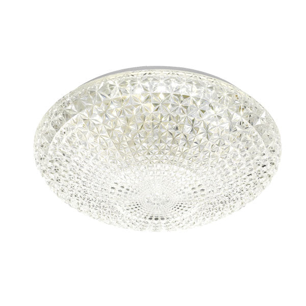 Lilac 40 Round Crystal Lattice 32w LED Oyster