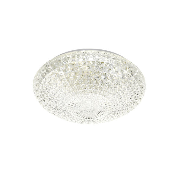 Lilac 28 Round Crystal Lattice 18w LED Oyster