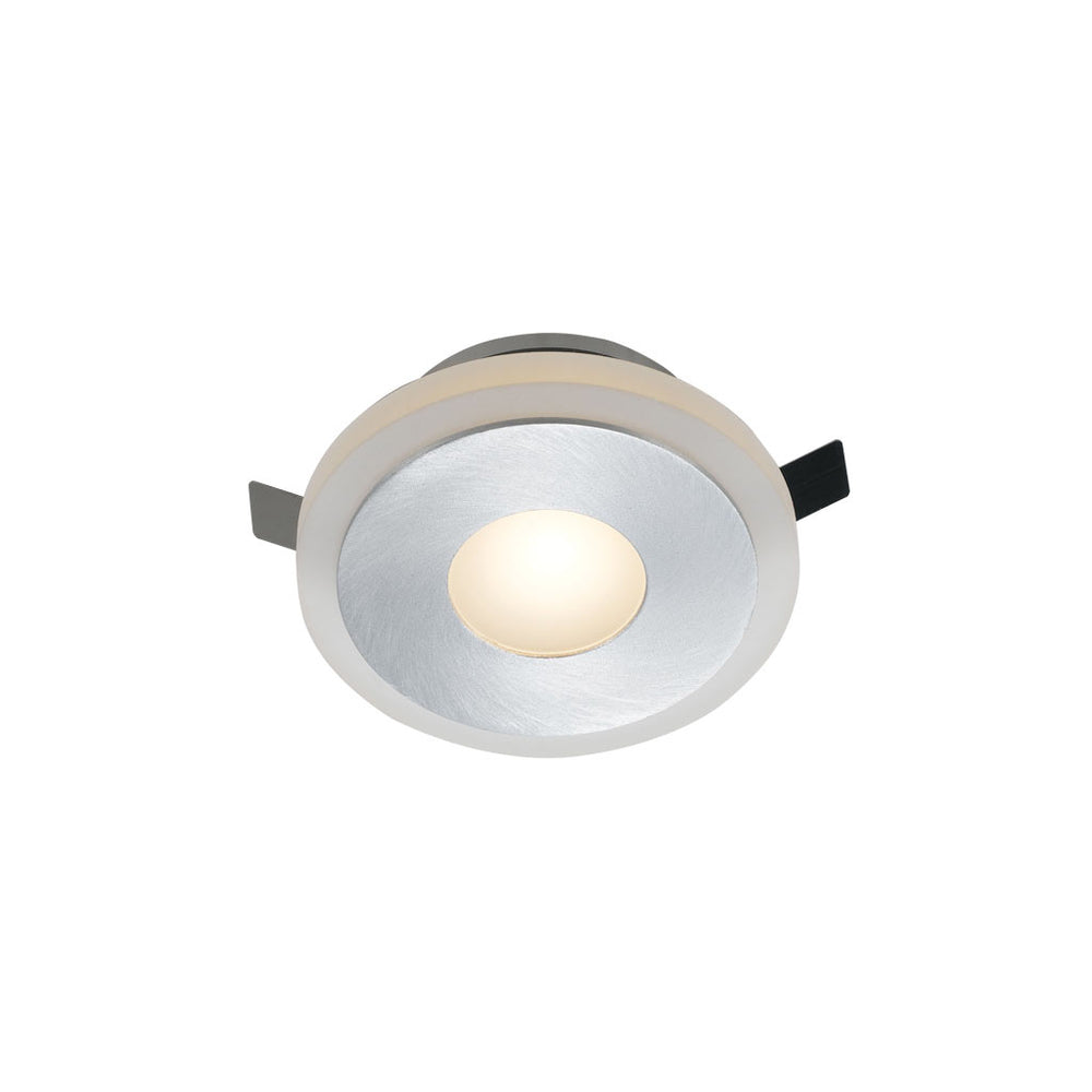 Lima Round-850 Frost Glass and Aluminium Recessed Wall Stair Fixture