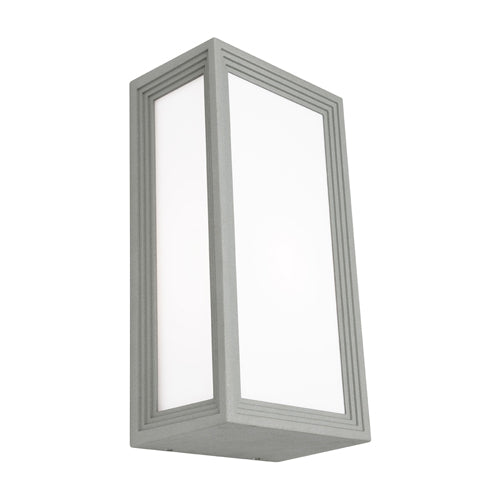 Lyon Exterior Rectangle Silver Bunker Light