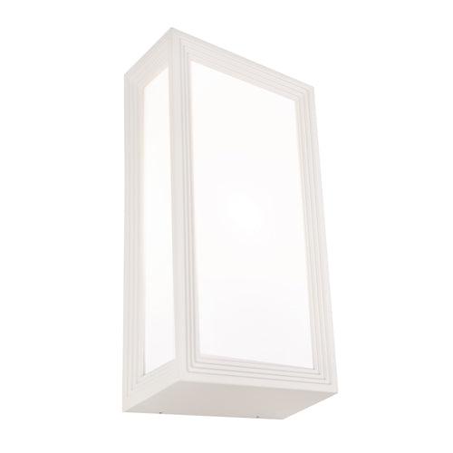 Lyon Exterior Rectangle White Bunker Light
