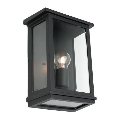 Madrid Large Box Black Frame Exterior Wall Light