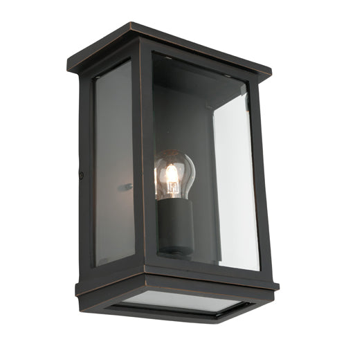 Madrid Large Bronze Box Frame Exterior Wall Light